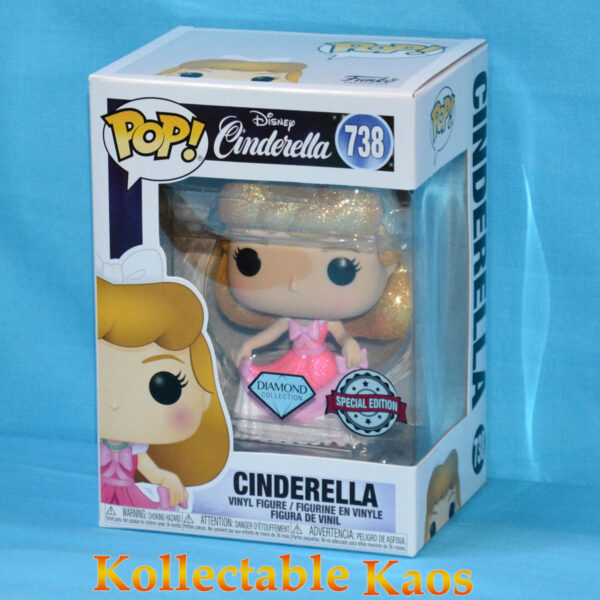 Cinderella - Cinderella in Pink Dress Diamond Glitter Pop! Vinyl Figure