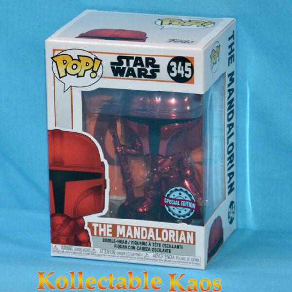 Star Wars: The Mandalorian - The Mandalorian Red Metallic Pop! Vinyl Figure