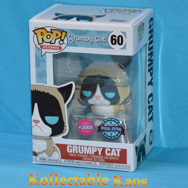 Icons - Grumpy Cat Flocked Pop! Vinyl Figure
