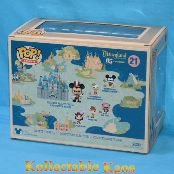 Disneyland: 65th Anniversary - Mickey Mouse with Sleeping Beauty Castle Pop! Town! Vinyl Figure