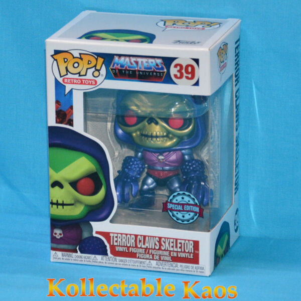 Masters of the Universe - Skeletor with Terror Claws Metallic Pop! Vinyl Figure