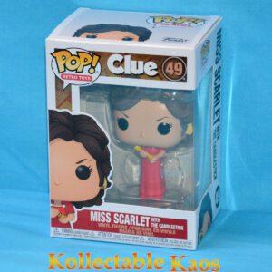 Clue - Miss Scarlet with Candlestick Pop! Vinyl Figure
