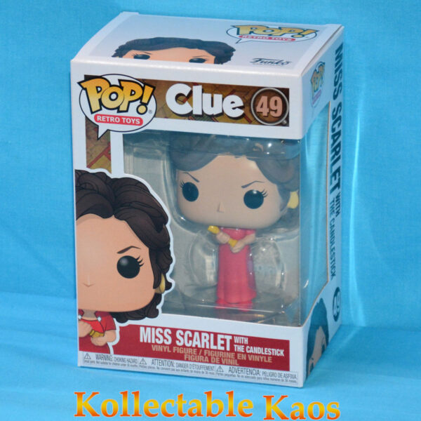 Clue - Miss Scarlet with Candlestick Pop! Vinyl Figure