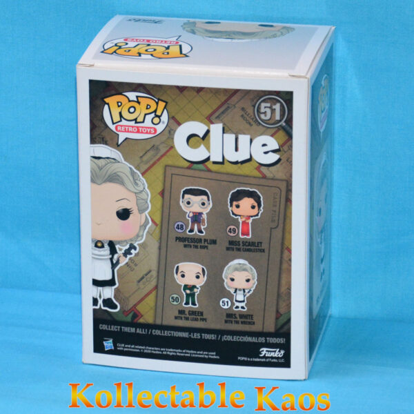 Clue - Mrs White with Wrench Pop! Vinyl Figure