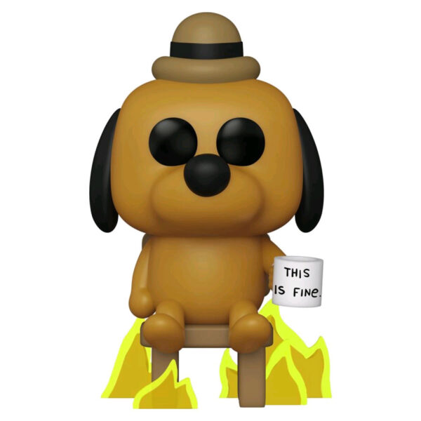 Icons - KC Green - This Is Fine Dog Pop! Vinyl Figure