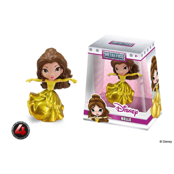 """Beauty and the Beast - Belle in Gold Gown 10cm(4"""") Metals Die-Cast Figure"""