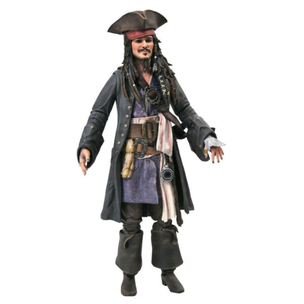 "Pirates of the Caribbean 5 - Captain Jack Sparrow 17cm(7"") Deluxe Action Figure"