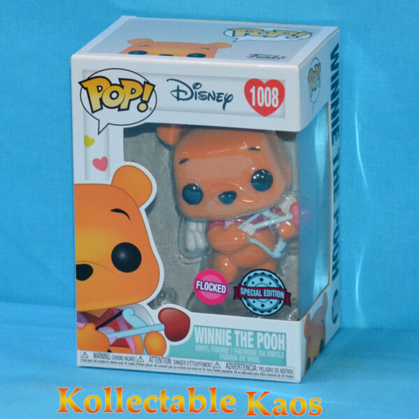 Winnie the Pooh - Winnie the Pooh Valentines Flocked Pop! Vinyl Figure