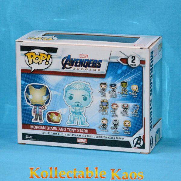 Avengers 4 - Hologram Tony Stark & Morgan with Helmet Glow in the Dark Pop! Vinyl Figure 2-Pack
