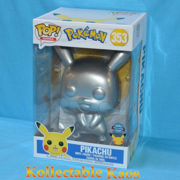 "Pokemon - Pikachu Silver Metallic 25th Anniversary 25cm(10"") Pop! Vinyl Figure"