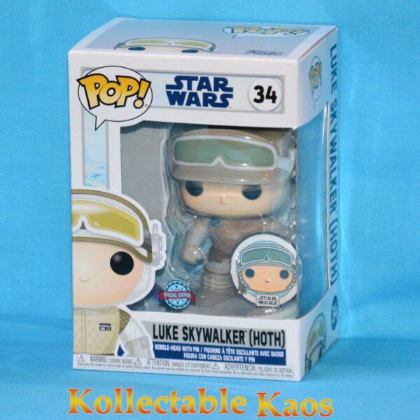 Star Wars: Across The Galaxy - Luke Skywalker Hoth Pop! Vinyl Figure with Pin