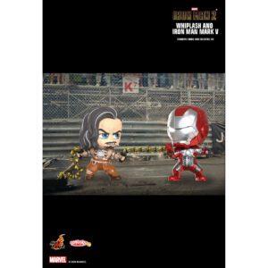 Iron Man 2 - Iron Man Mark V & Whiplash Cosbaby (S) Hot Toys Figure Collectible Set