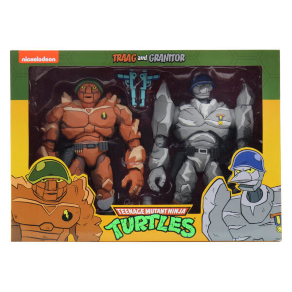 "Teenage Mutant Ninja Turtles (1987) - Traag & Granitor 17cm(7"") Scale Action Figure 2-Pack"