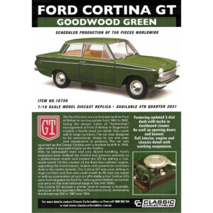 1:18 Ford Cortina GT - Goodwood Green