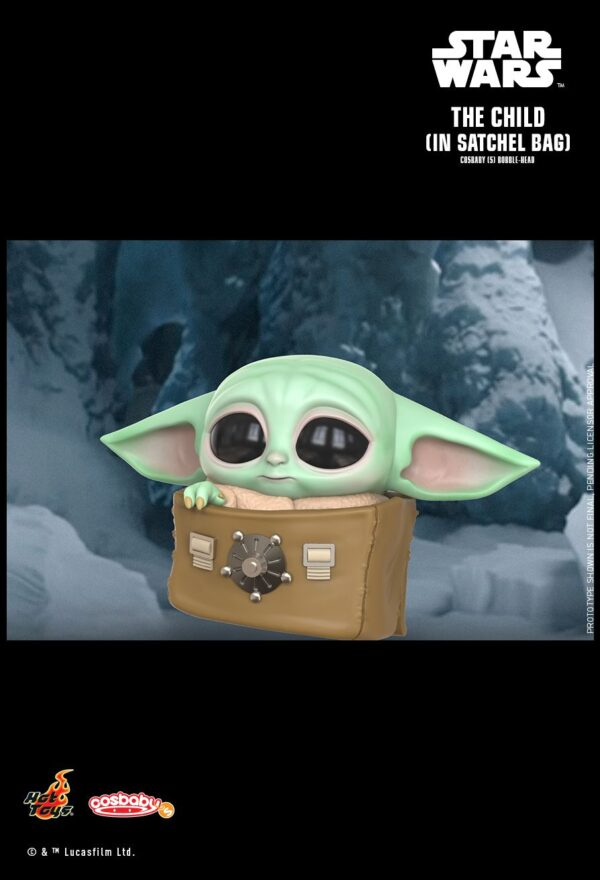 Star Wars: The Mandalorian - The Child with Bag Cosbaby (S) Bobble-Head