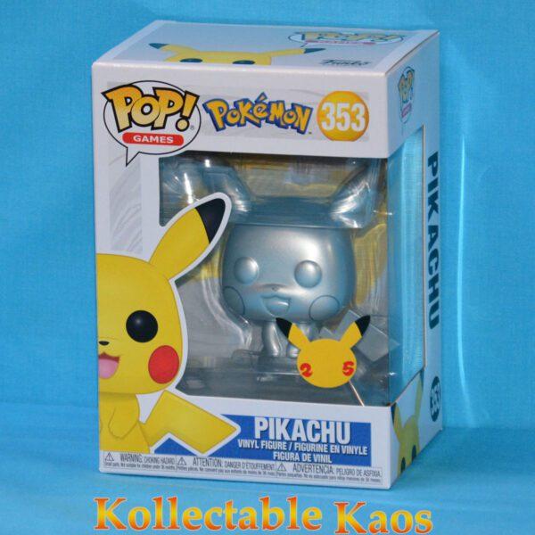 Pokemon - Pikachu Silver Metallic Pop! Vinyl Figure