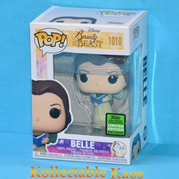 ECCC 2021 - Beauty and the Beast - Belle Green Dress and Book Pop! Vinyl Figure
