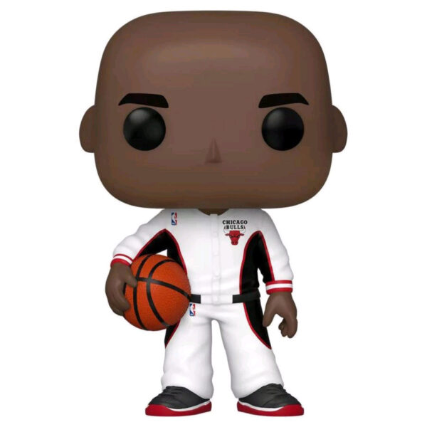 NBA Basketball - Michael Jordan Chicago Bulls White Warm-Up Suit Pop! Vinyl Figure