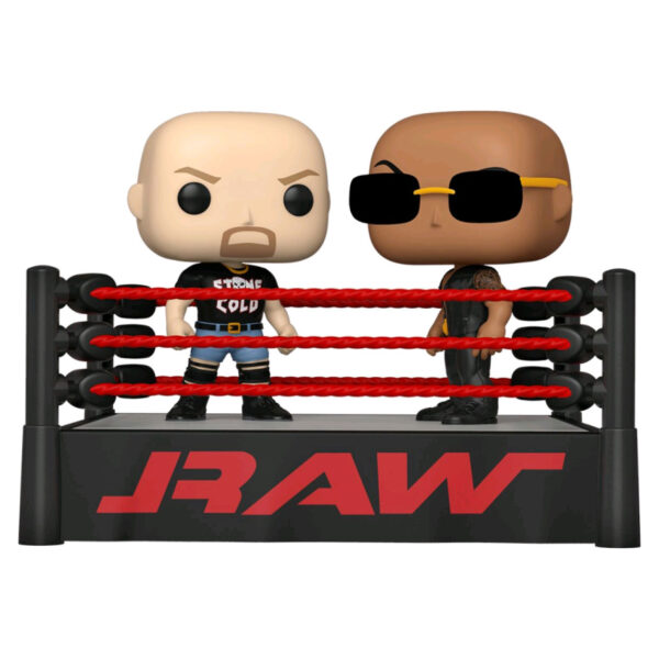 WWE - The Rock vs Stone Cold with Wrestling Ring Moments Pop! Vinyl Figure 2-Pack