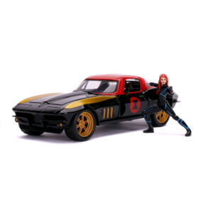 1:24 Jada Hollywood Rides - Avengers - 1966 Chevy Corvette with Black Widow