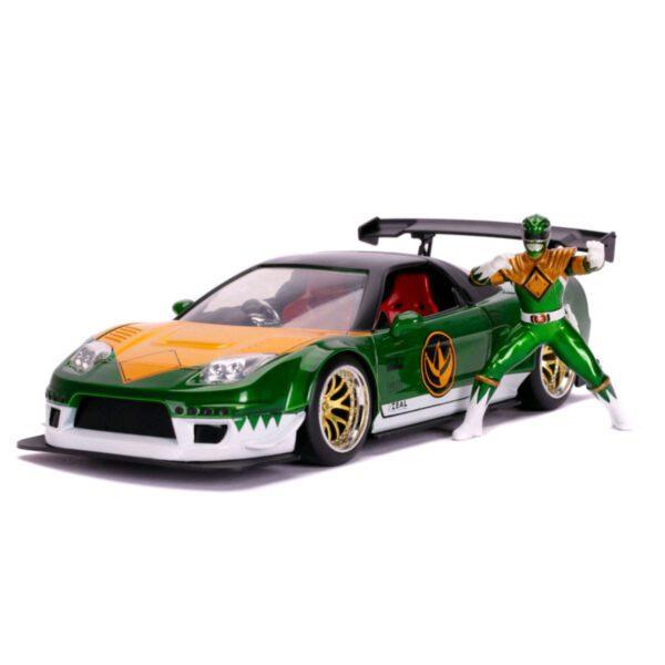 1:24 Jada Hollywood Rides - Power Rangers - 2002 Honda NSX Type R Japan Spec Green