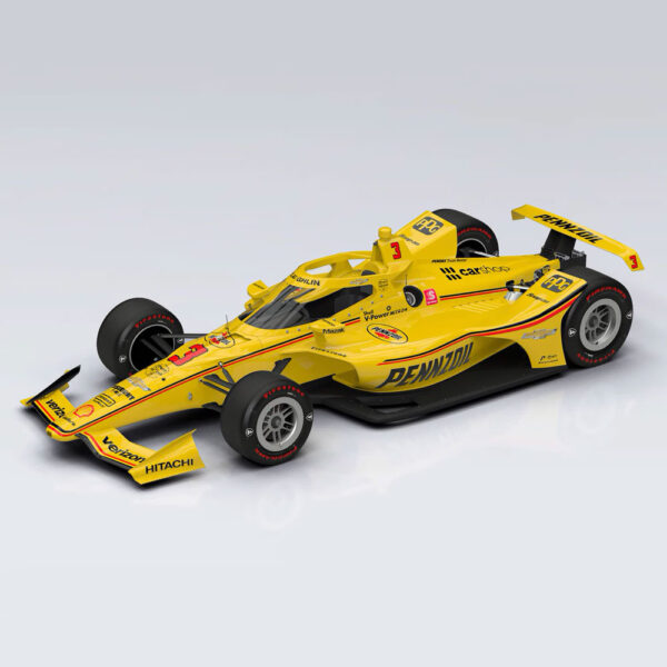 1:18 2021 INDY 500 - Team Penske #3 Pennzoil Dallara Chevrolet INDYCAR With Driver Figurine - Scott McLaughlin
