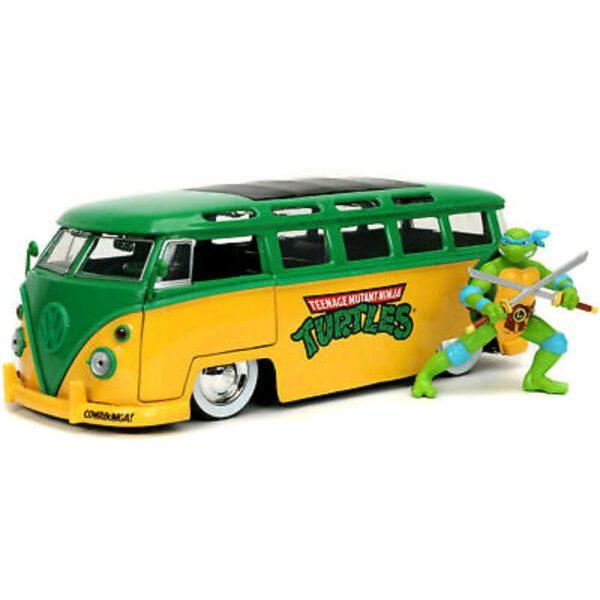 1:24 Jada Hollywood Rides - Teenage Mutant Ninja Turtles - 1962 VW Bus w/Leonardo