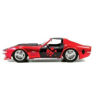 1:32 Jada Hollywood Rides - Batman - 1969 Corvette Stingray - Harley Quinn