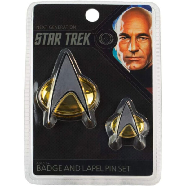 Star Trek: The Next Generation - Enterprise Communicator Badge & Lapel Pin Set