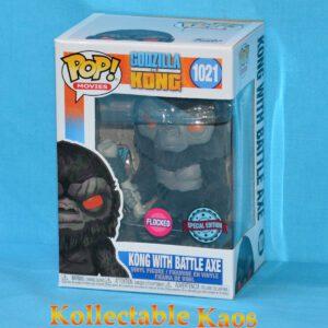 Godzilla vs Kong - Kong with Battle Axe Flocked Pop! Vinyl Figure