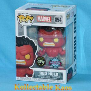 Marvel - Red Hulk Pop! Vinyl Figure (RS) #854 - Glow in the Dark Chase
