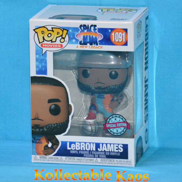 Space Jam 2: A New Legacy - LeBron James Stepping on White Basketball Pop! Vinyl Figure