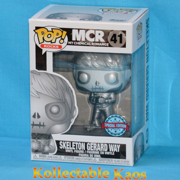 My Chemical Romance - Gerard Way Skeleton Platinum Metallic Pop! Vinyl Figure