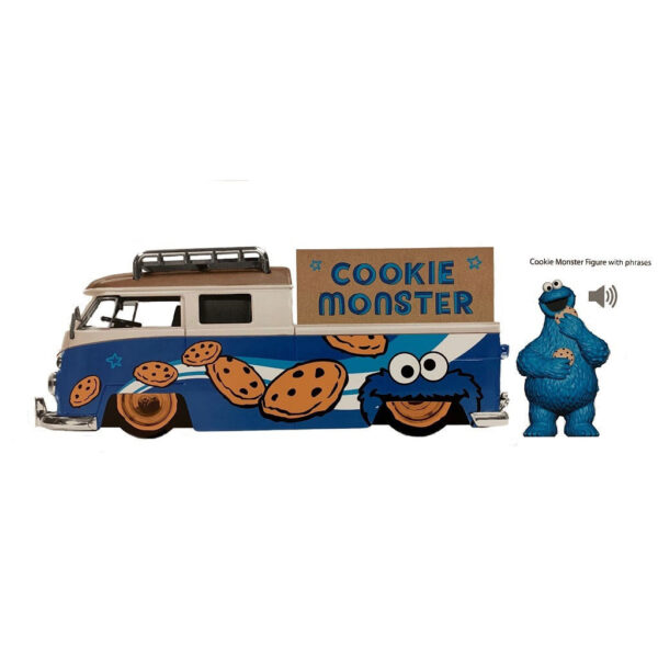 1:24 Jada Hollywood Rides - Sesame Street - 1963 VW Bus w/Cookie Monster