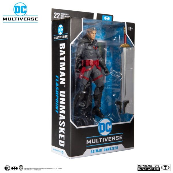 """DC Multiverse - Batman - Thomas Wayne Unmasked Flashpoint 7"""" Scale Action Figure"""