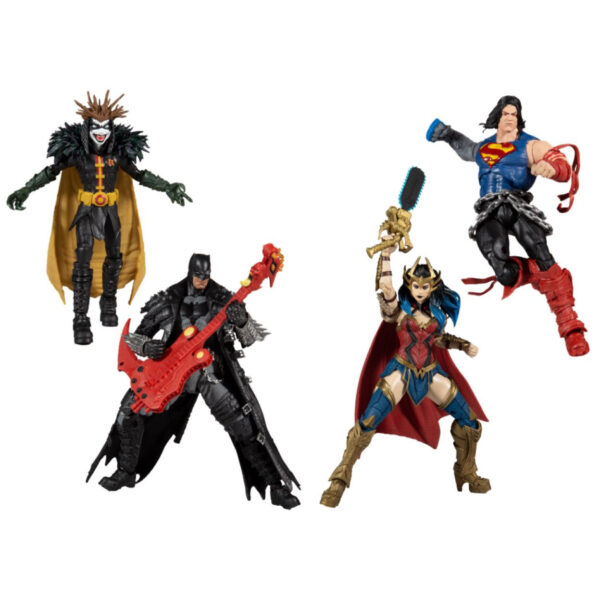 """DC Multiverse - Dark Knights: Death Metal 7"""" Scale Action Figure Set of 4"""