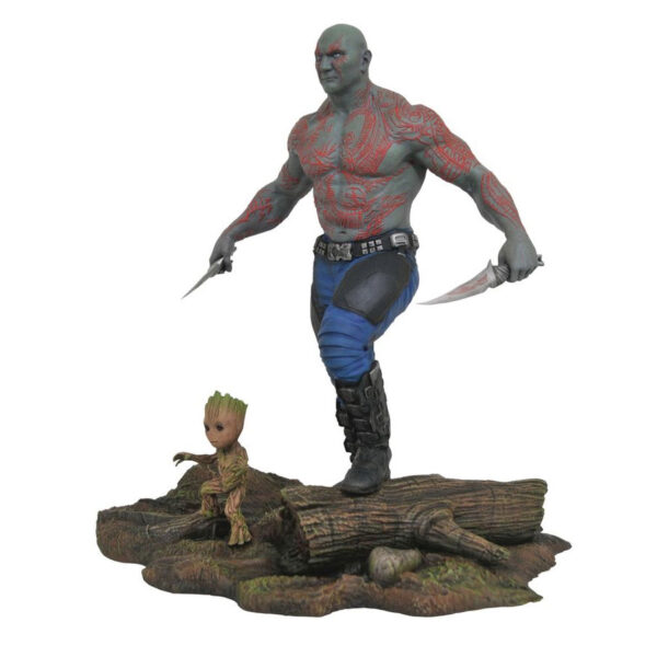 """Guardians of the Galaxy: Vol.2 - Drax & Groot 25cm(10"""") Marvel Gallery PVC Diorama Statue"""