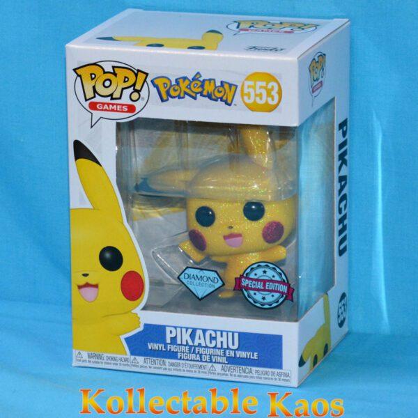 Pokemon - Pikachu Waving Diamond Glitter Pop! Vinyl Figure