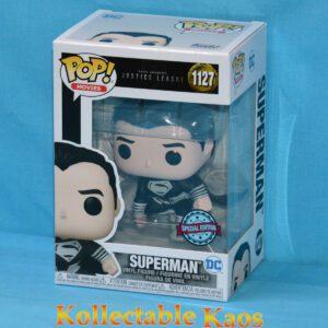 Justice League: Snyder Cut - Superman (Black Suit) Landing Pop! Vinyl Figure