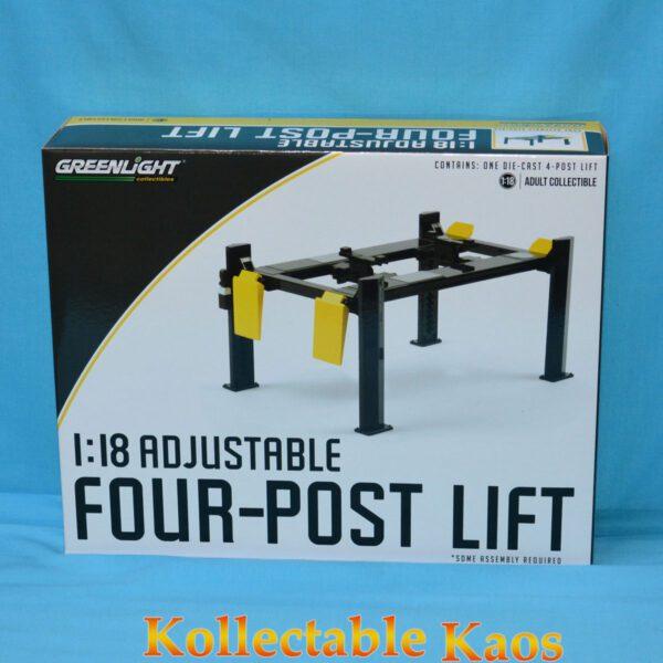 1:18 Adjustable Four-Post Lift - Yellow/Grey