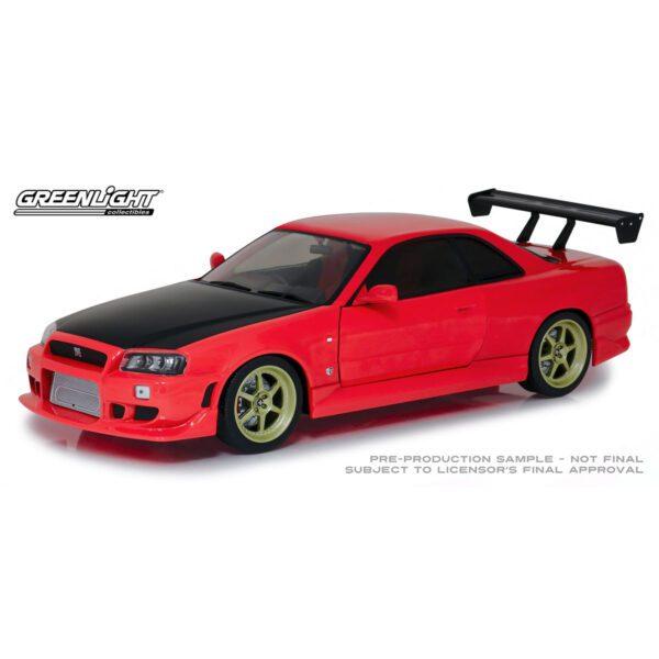 1:18 1999 Nissan Skyline GT-R (R-34) w/Neon LED Light Underglow - Red