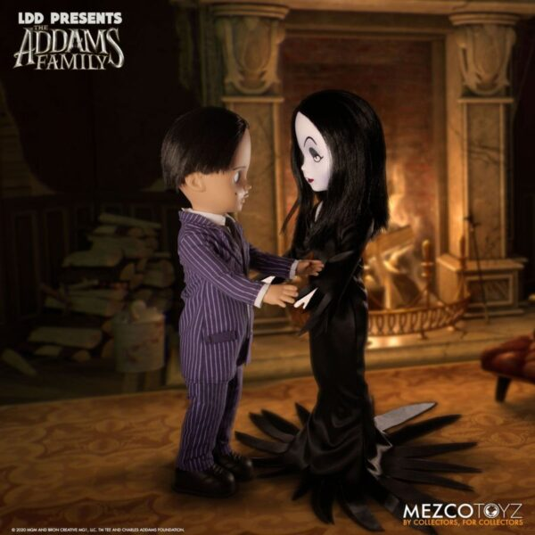 "LDD Presents - The Addams Family Gomez & Morticia 25cm(10"") Living Dead Doll 2-Pack"