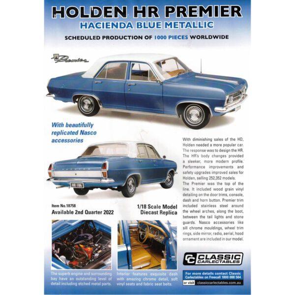 1:18 Holden HR Premier - Hacienda Blue Metallic