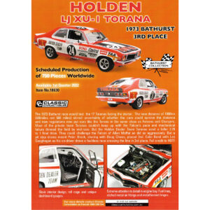1:18 1973 Bathurst 3rd Place - Holden LJ XU-1 Torana - Bond/Geoghegan