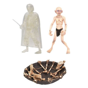 """The Lord of the Rings - Invisible Frodo & Gollum with Boat 4"""" Action Figure 2-Pack"""