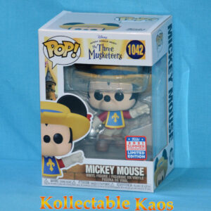 2021 FunKon - Mickey Mouse - Mickey Musketeer Pop! Vinyl Figure