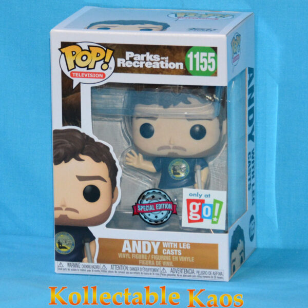 Parks and Recreation - Andy with Leg Casts Pop! Vinyl Figure