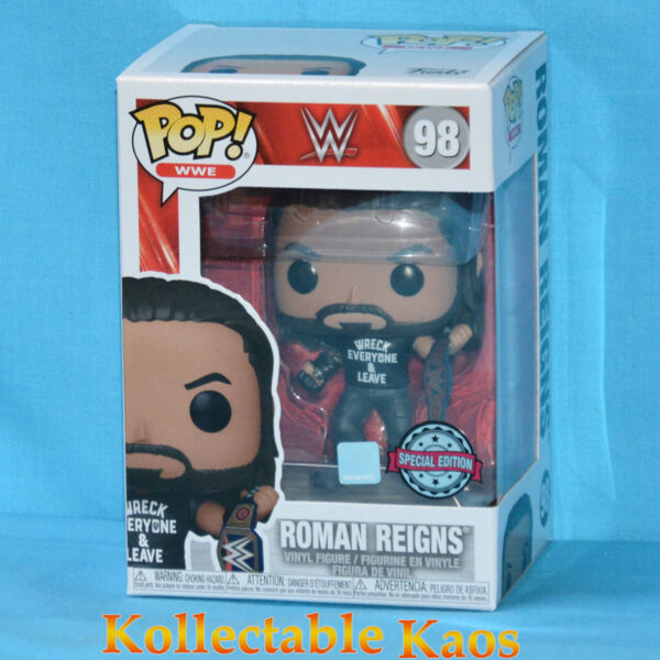 WWE - Roman Reigns with Wreck Everyone Shirt Metallic Pop! Vinyl Figure