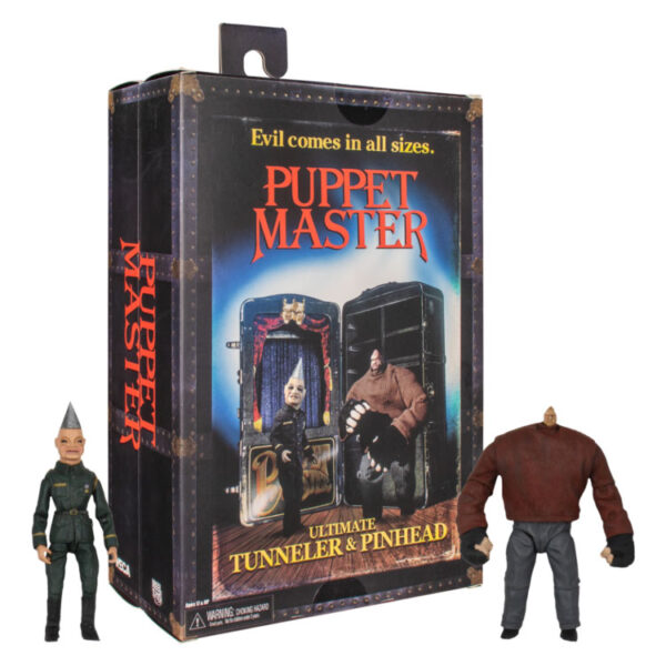 """Puppet Master - Pinhead & Tunneler 7"""" Scale Action Figure 2-pack"""