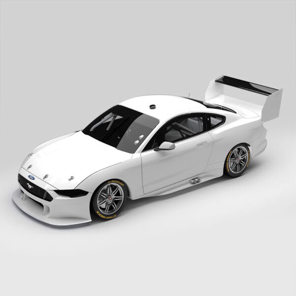 1:18 Ford Mustang GT Supercar - Gloss White Plain Body Edition